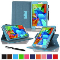 rooCASE Samsung Galaxy Tab 4 8.0 SM-T330 Tablet Case - Dual View Multi-Angle Stand Cover with Pen Stylus for Tab4 8-Inch 8