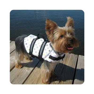 Paws Aboard Designer Dogg Life Jacket XXS Louie Up To 6 LB