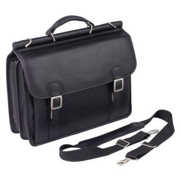 Winn International Top Grain Leather Dowel Rod Laptop Case
