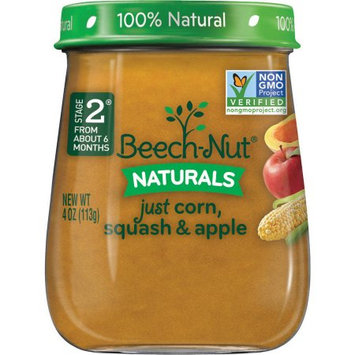 Beech-Nut naturals just corn, squash & apple jar
