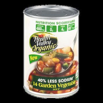 Health Valley Organic Soup Garden Vegetable 40% Less Sodium