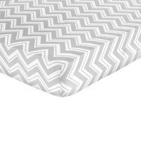 Baby Fitted Sheet Sweet JoJo Designs TRQ GRY WHT