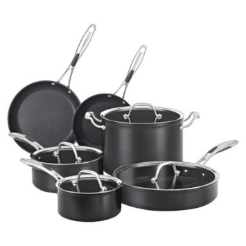 KitchenAid 10 Piece Hard Anodized Cookware Set - Black