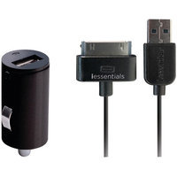 Iessentials Ipl-pc-bk Ipod(r) Car Charger With 30-pin Sync Cable