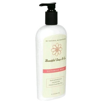 Beautiful Soap & Co. Hand & Body Lotion, Victorian Rose, 12 oz (360 ml)