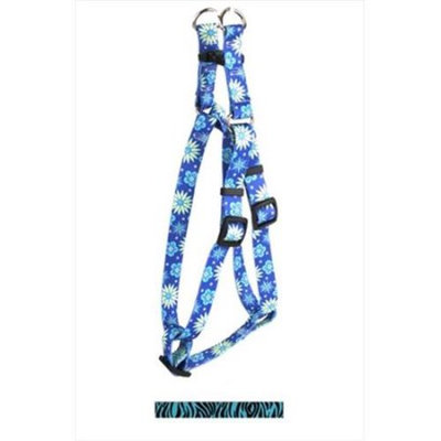 Yellow Dog Design SI-ZBT103L Zebra Teal Step-In Harness - Large