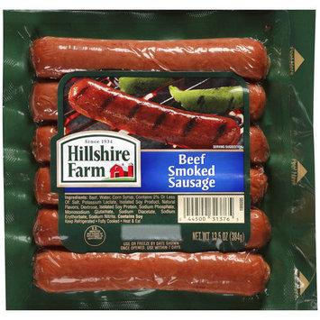 Hillshire Farms Hillshire Farm Beef Smoked Sausage, 6 count, 13.5 oz