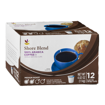 Ahold Shore Blend 100% Arabica Coffee Single Serving Cups - 12 CT
