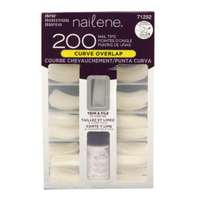Nailene Nail Tips, Curve Overlap, 200 ea