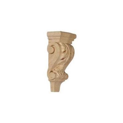Ekena Millwork 3-in x 6-in Alder Acanthus Wood Corbel