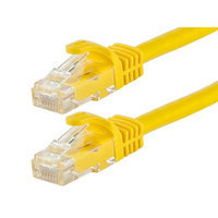 Monoprice 2FT FLEXboot Series 24AWG Cat6 550MHz UTP Bare Copper Ethernet Network Cable - Yellow
