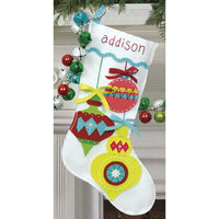 Dimensions Felt Applique Kit, Bright Ornaments Stocking