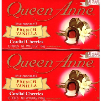 Queen Anne Milk Chocolate French Vanilla Cordial Cherries (2 Pack of 10) 20 Piece Total