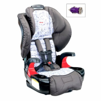 Britax Pioneer 70 Booster Car Seat and FREE Mini Auto USB Adapter, Garden Gate, 1 ea