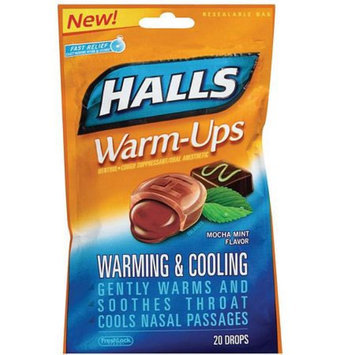 Halls Warm-Ups Cough Suppressant Drops