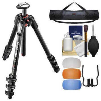 Manfrotto 055 Series 67 inch 4-Section Carbon Fiber Tripod with Case + Diffuser Filter Set + Kit