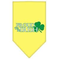 Mirage Pet Products 6662 LGYW Proud to be Irish Screen Print Bandana Yellow Large