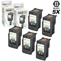 LD Canon Remanufactured PG-210XL Set of 5 High Yield Ink Cartridges: Includes 5 Black PG-210XL