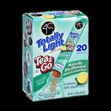 4C Totally Light Sugar Free Tea 2Go Naturally Decaffeinated Natural Lemon Flavor Drink Mix - 20 CT