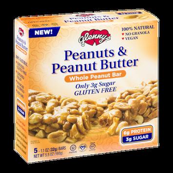 Glenny's Peanuts & Peanut Butter Whole Peanut Bars - 5 CT