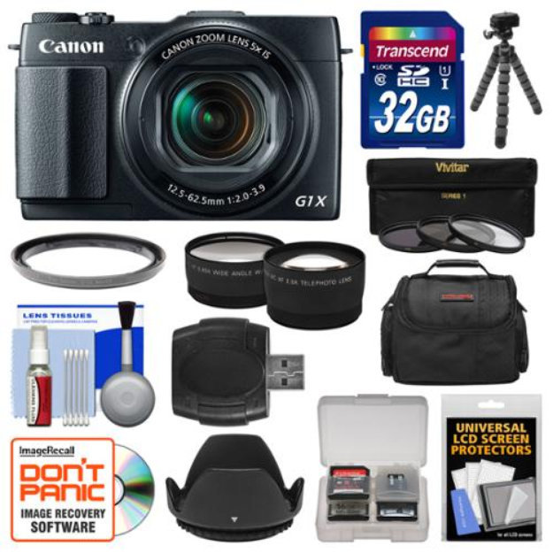 Canon Powershot G1 X Mark Ii Wi Fi Digital Camera With 32gb Card