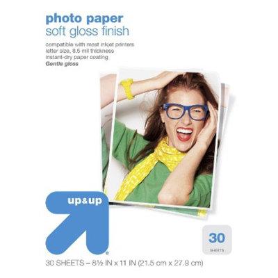 up & up Up & Up 30ct 8.5x11 Semiglass Photo Paper