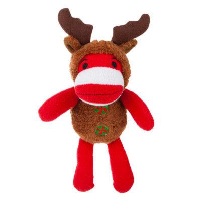 Grreat ChoiceA Pet HolidayTM Moose Sock Monkey Dog Toy