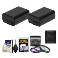 Power Sony Alpha Accessory Kit with 2 NP-FW50 Batteries + 3 49mm UV/FLD/PL Filters + Cleaning Kit for NEX-3, NEX-5 & NEX-C3 Digital Cameras with 18-55mm or 16mm Lens