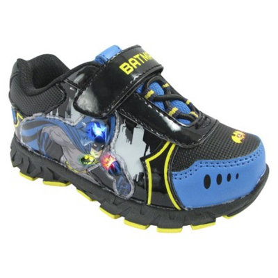 Toddler Boy's Batman Light Up Sneakers - Black 11