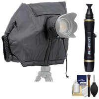 Matin All Weather DSLR Camera Protection Cover (Black) with Cleaning Accessory Kit