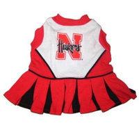 Pets First Inc. Pets First 3996333 Nebraska Cheerleader Dog Dress Medium