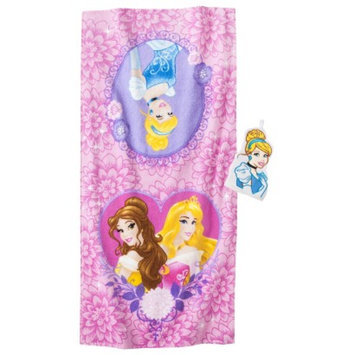 Disney Princess Cinderella Bath Towel/Wash Mitt Set - Pink