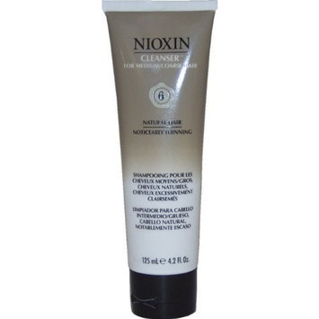 System 6 Cleanser for Medium To Coarse/Untreated/Noticeably Thinning Hair By Nioxin, 4.2 Ounce