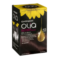 Garnier Olia Oil Powered Permanent Haircolor 4.15 Dark Soft Mahogany