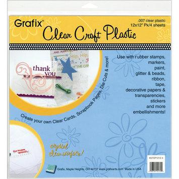 Grafix Clear Plastic Sheets, 4Pk, 12