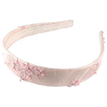 Smoothies Taffita Headband w/Beads Embroidery- Pink 01007
