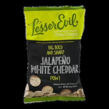 Lesser Evil Jalapeno White Cheddar Chia Crisps Gluten-Free