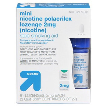 up & up up&up Mini Nicotine Polacrilex 2 mg Mint Lozenges - 81 Count