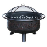 Uniflame Oil Rubbed Bronze Outdoor Firebowl with Swirl Design