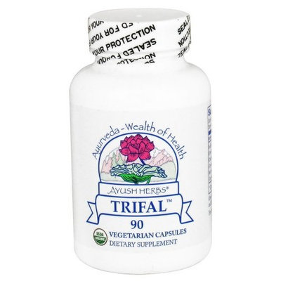 Ayush Herbs Inc Herbal Supplement, Trifal, 90 Count