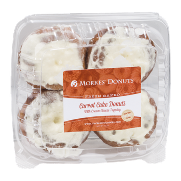 Morkes Carrot Cake Donuts - 4 CT