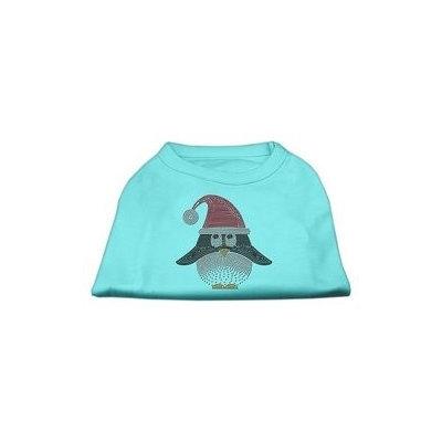 Mirage Pet Products Santa Penguin Rhinestone Dog Shirt Aqua XXXL (20)