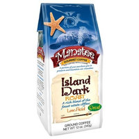 Manatee Island Dark Roast Decaf Ground, 12-Ounce (Pack of 3)