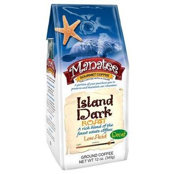 Manatee Island Dark Roast Decaf Ground, 12-Ounce (Pack of 3)