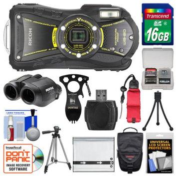 Ricoh WG-20 Shock & Waterproof Digital Camera, 8x22 Jupiter III+ Binoculars & Eat'n Tool Adventure Kit with 16GB Card + Case + Battery + Tripod + Float Strap