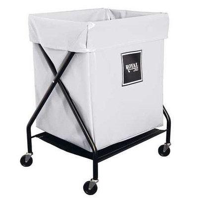 ROYAL BASKET TRUCK G06-WWX-XFA-3ONN X-Frame Cart,6 Bu, White Vinyl