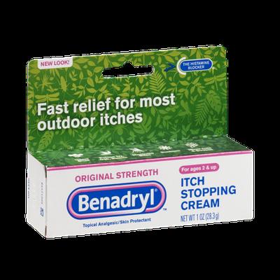 Benadryl Itch Stopping Cream Original Strength