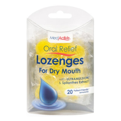 MedActive Oral Relief Lozenges for Dry Mouth LemonLime