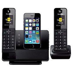 Panasonic Black Dock Style Telephone With iPhone5 Integration Capability