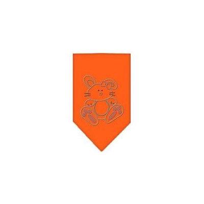Ahi Bunny Rhinestone Bandana Orange Small